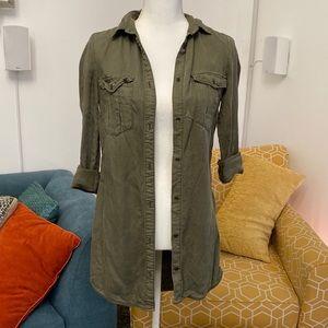 H&M ▪️Lyocell Olive Shirt
